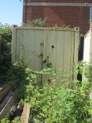 10ft export type shipping container with twin barn doors and internal timber framed shelving (Please