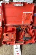 Hilti SF 180-A 18v battery operated drill, with 3.0 Ah battery charger and case