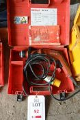 Hilti TE2 110v rotary hammer drill, serial no. 354506, with carry case