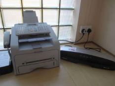 Samsung SF-500R fax machine & Fellowes Saturn 3i A3 laminator