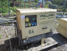 Parament P600S portable diesel generator, in enclosure, recorded hours 2112, serial no.