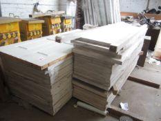 Eighteen timber framed doors, 2040 x 830mm and Twenty Boston door panels, 2040 x 326 x 40mm