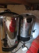 Two Stanline steel hot water urns