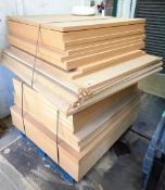 Pallet of assorted plywood, approx. 41 sheets