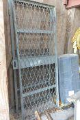 Two galvanised steel gates