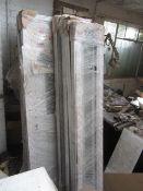 Five PVCU doors with sidelight, door size 1000 x 2090mm, sidelight size 320 x 2080mm