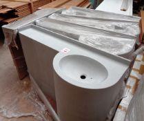 Five timber framed single basin sink units