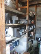 Contents of rack including assorted reels of damp proof course, sub floor Compound, adhesive seal,