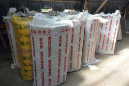 Approx. fourteen packs of rock wool fibreglass insulation