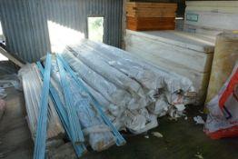 Quantity of various polystyrene insulation panels, etc.