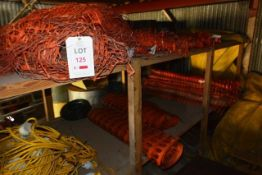 Quantity of orange plastic barriers (as lotted)