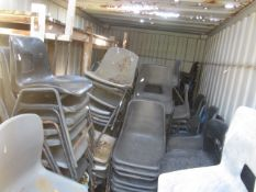Approx. 200 assorted plastic canteen style chairs