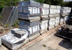 Fourteen & half pallets of Fortecrete architectural masonry blocks, twelve Fairface solid Ivory, 440