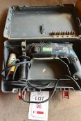 Bosch GISH 2 SR 110v rotary hammer drill, serial no. 18400006, with carry case