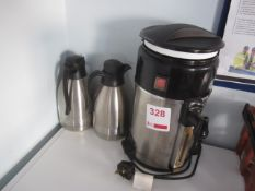 Frigidaire hot water urn, two thermal jugs