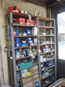 Contents of rack to include wood screws, masonry nails, Hilti bolts, three 4mm mirror with drill