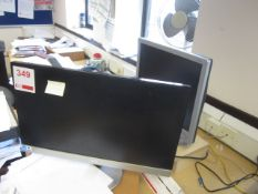 Two assorted computer systems, two flat screen monitors, three keyboards, 2 mouse