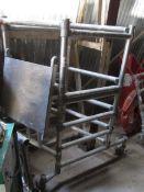 Un-named aluminium framed mobile portable scaffold tower, 700 x 700mm
