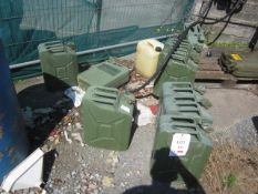 Fourteen Jerry cans