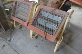 Two portable 3000W infrared space heaters (working condition unknown)