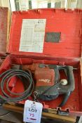 Hilti TE76 110v rotary breaker, serial no. 330351, with carry case and tool bits