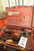 Hilti TE705 110v breaker, serial no 233701, with carry case and tool bits