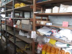 Misc lot to include Damon trafilamps, safety beacons, Wurth anchor & rebar installation epoxy, Hex