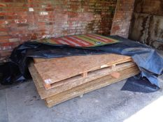 Pallet of assorted MDF sheets, approx. 1500 x 2400mm