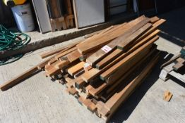 Pallet of various timber offcuts