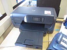 HP Officejet Pro 8210 printer, Viewserve flat screen monitor, keyboard