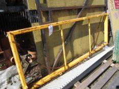 Steel framed lifting jib, 2700 x 960mm. This item has no record of Thorough Examination. The