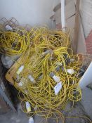 Quantity of assorted site lamps, 110v (sold as spares/repairs only)