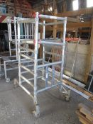 Euro Towers aluminium framed mobile portable scaffold tower, 700 x 700mm