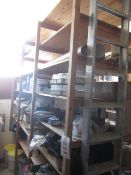 Contents of racking including fixtures & fittings, heavy rails, railing , hosing, door fittings,
