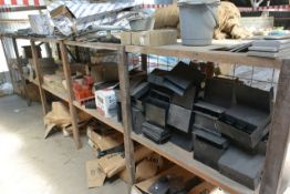 Contents of timber rack to include various brick vents, cavity trays, etc.