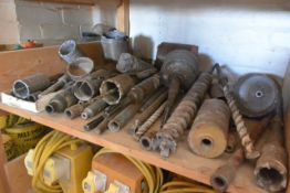 Quantity of assorted drill bits, hole saws, core bits etc. (as lotted)