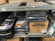 Contents of two shelves to include Vango, Kampa Awning Carpets & Ground Sheets and a Blue Diamond