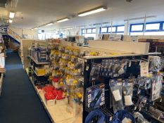 Three, six section double sided centre shop display units (collection Thursday 23rd September 2021)