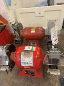 Two Sealey double ended bench grinders 240V