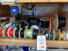 Various part used reels of cables