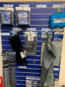 Contents of Display Rack to include Kampa & Blue Diamond Awning Frame Bags, Moto Grande Air 390,