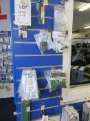 Contents of 2 display boards to include Coleman and Campingaz mantles & spare gas spares