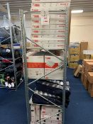 Contents of three racking bays to include a large number of Fiamma handles vents, fixing kits,