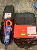 Unit model UT582 digital RCD & Draper DMM8B test units
