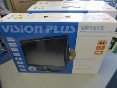 Vision Plus UP19TS portable HD television & DVD player 12/24V mains (boxed)