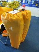 Two Kampa orange tub folding chair (boxed)