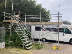 Bespoke Caravan/Motorhome roof cleaning platform to include 10 tread access steps size approx...