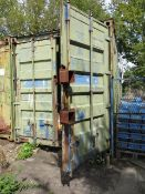 20' shipping container *collection Thursday 23rd August only NOTE A work Method Statement and Risk