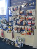 Contents of 2 display boards to included large quantity of car, van, trailer & motorhome reflectors,