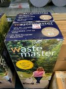 Two Wastemaster 38 litre portable waste carriers colour: beige